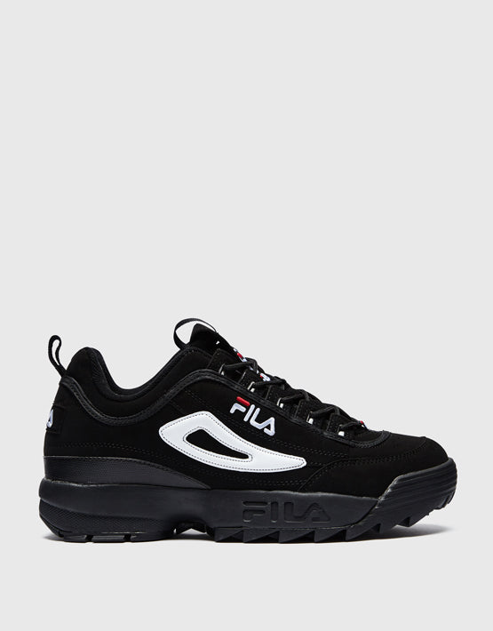 FILA Disruptor II- Mens - Black / White