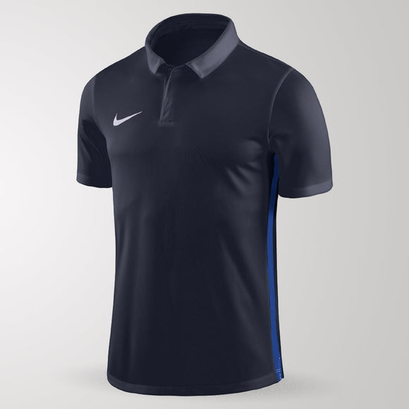 Nike Academy 18 Polo - Adult - Obsidian / Royal Blue