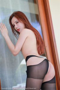 Black Sheer Garter Thigh High Stockings