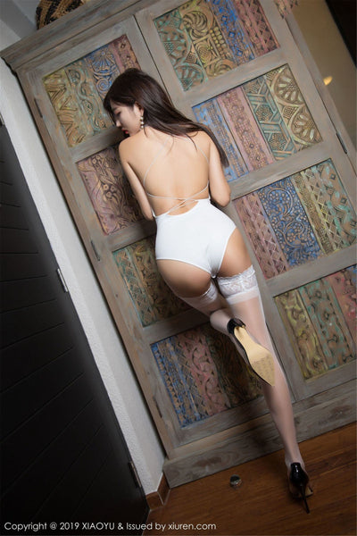 White Sheer Thigh High Lace Stockings