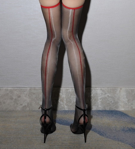 1D Thigh High Oil Shine Glossy Stocking
