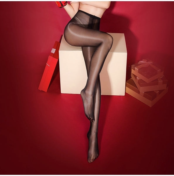 Black Oil Shine Glossy Sheer 30 Denier Pantyhose