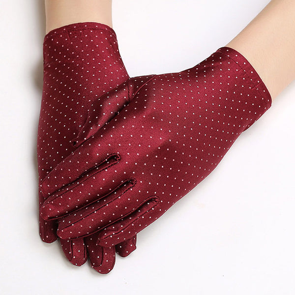 Red Polka Dot Gloves