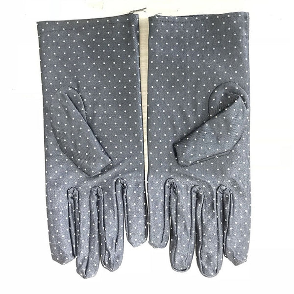 Grey Polka Dot Gloves