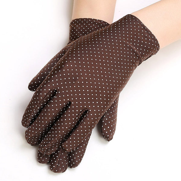 Coffee Polka Dot Gloves