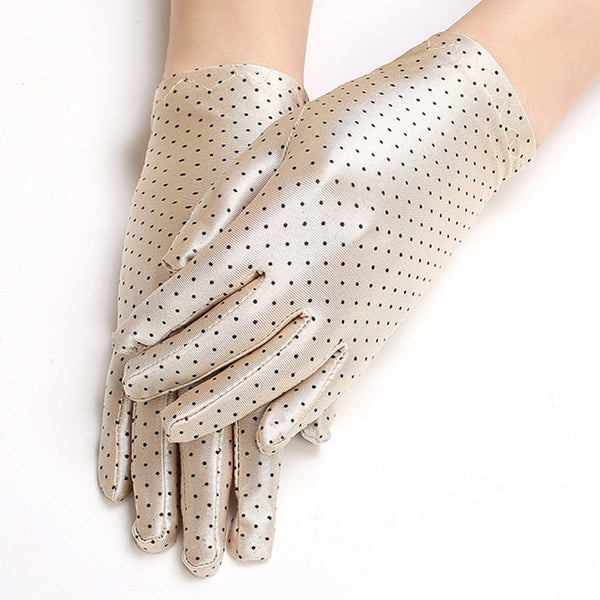 Beige Polka Dot Gloves