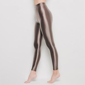 Champagne Wet Look Leggings