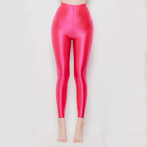 Blush Wet Look Leggings