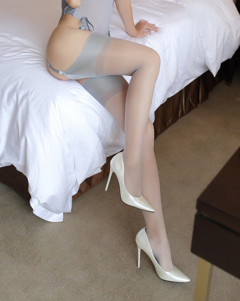 Gray Ultra Thin Nylon Stockings