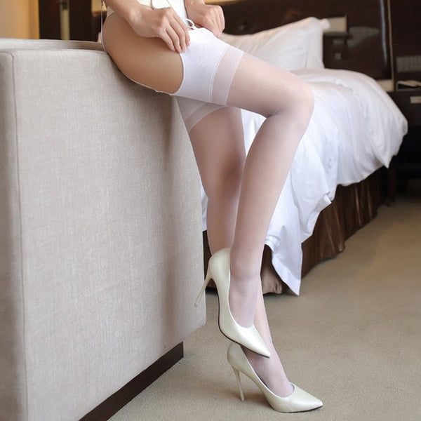 White Ultra Thin Nylon Stockings