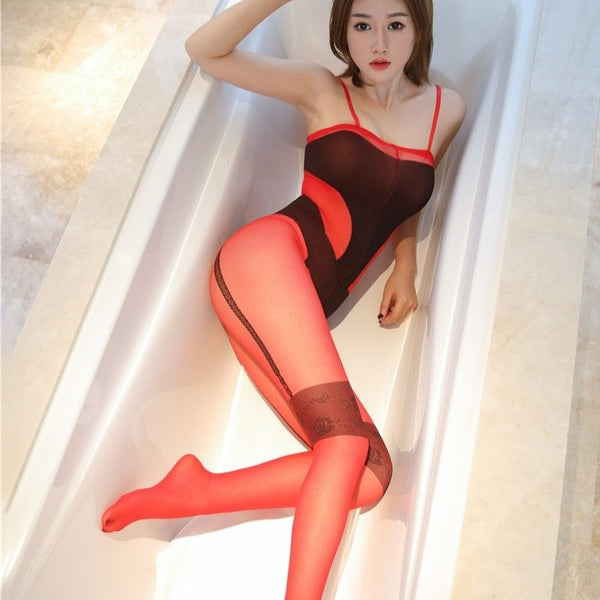 Red Hot Mesh Bodystocking