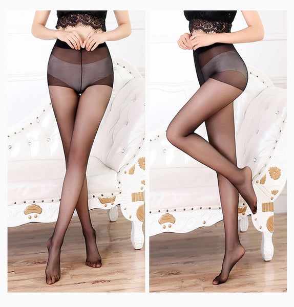 Black Ultra-thin High Waist Pantyhose