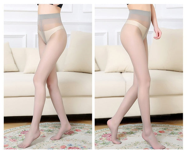 Gray Ultra-thin High Waist Pantyhose
