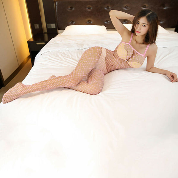 Pink Fishnet Bodystocking