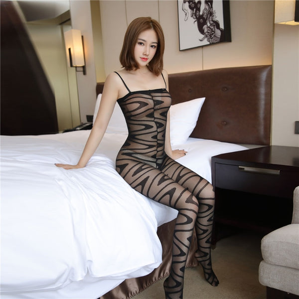 Black Hypnotize Me Sheer See Through Bodystocking