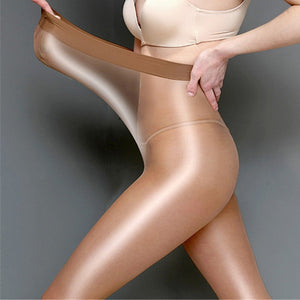 Coffee 60 Denier Oil Shine Pantyhose