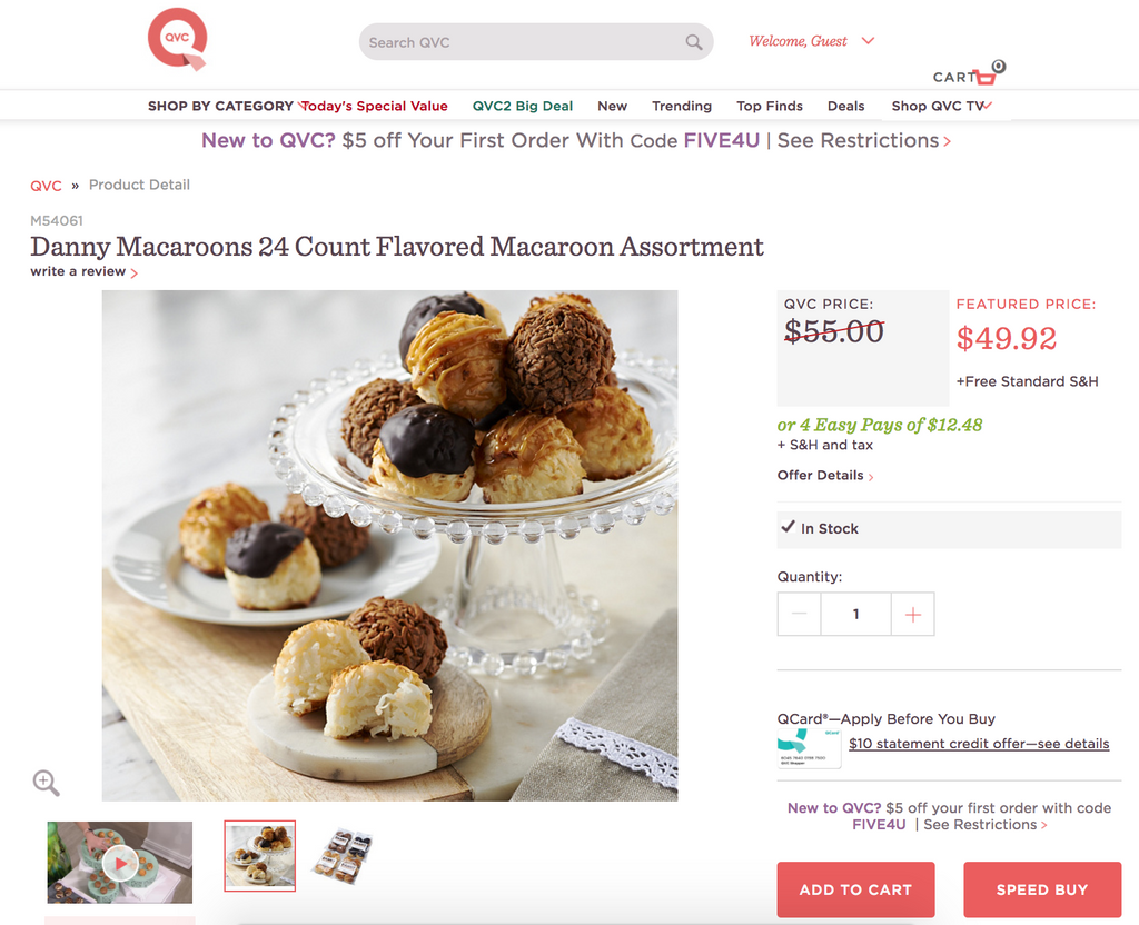 buy coconut macaroons from danny macaroons on qvc