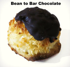 bean to bar chocolate dipped coconut macaroons single origin ritual videri askinosie dandelion valrhona