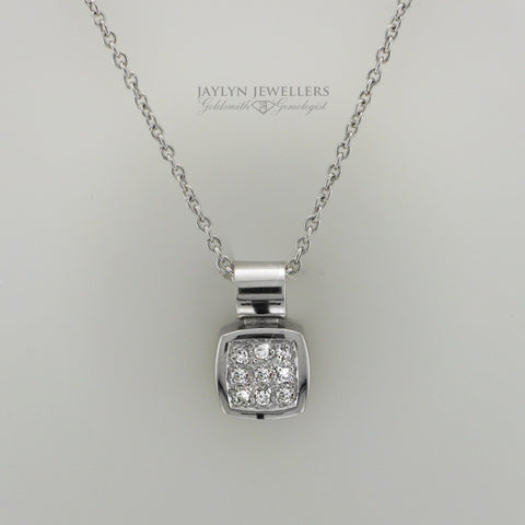 14K Square Pave-Set Diamond Pendant by JayLyn Jewellers. $410.99