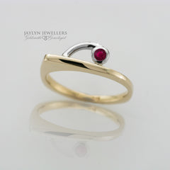 14K Two-Tone Modern Ruby Ring by JayLyn Jewellers. $240.00