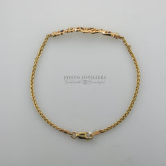14K sapphire and diamond heart bracelet