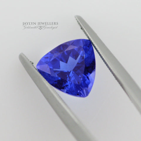 2.03 Carat Trillion Cut Blue Tanzanite- Outstanding Quality