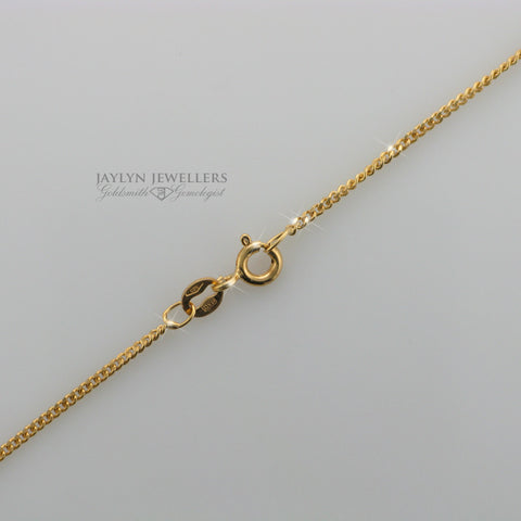 14K yellow gold curb-link chain- 17.5""