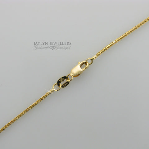 14K yellow gold fox tail-link chain- 18""