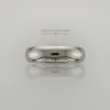Men's 6mm Polished Half-Round Titanium Band