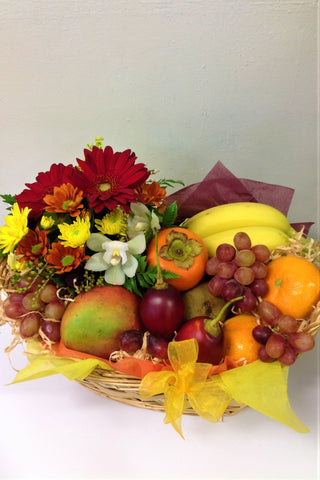 Fruit & Flowers Basket - Mangere Floral Studio