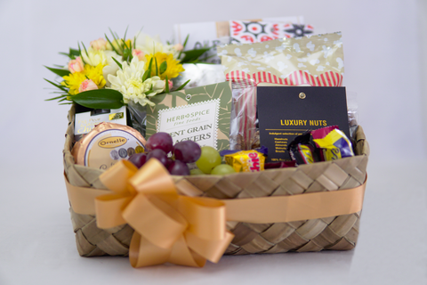 Good as Gold Gift Box with Flowers