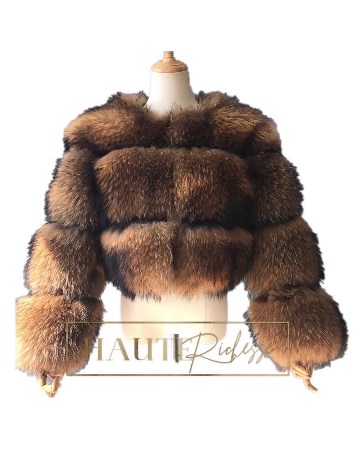 Front Page Raccoon Fur Bomber