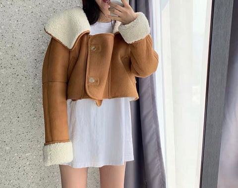 Double Face Leather Shearling