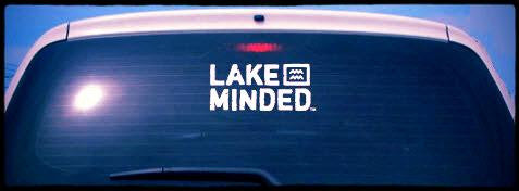 White Vinyl Lake Minded Car Window Decal