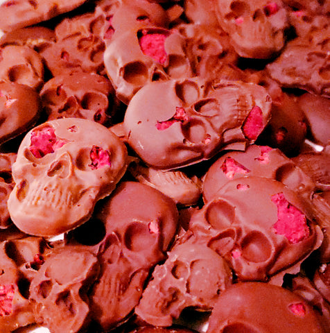 Berry Brainy Raspberry Skulls