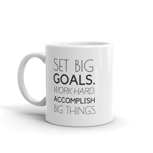 Set Big Goals quote mug