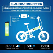 Ausstech Beach Rider Folding Electric Bike