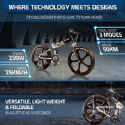Ausstech Monster Folding Electric Bike