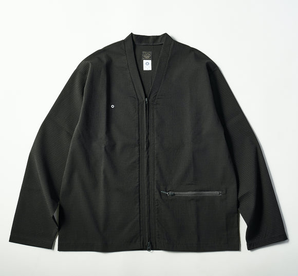 #3609 E-Z Zip Cardigan PS1 / poly mesh seersucker charcoal