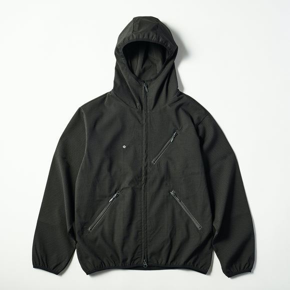 #3601 E-Z Hoodie PS1 / poly mesh seersucker charcoal