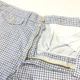 #1374L Lined MENPOLINI Short / tattersail shirting / M size