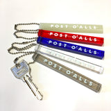 Post O'Alls Shop Logo Key Chain