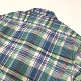 #1296 C-POST 4 / linen cotton plaid / XS size