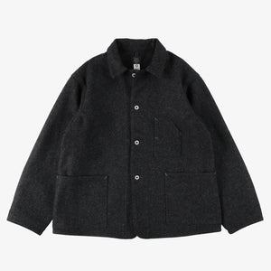 #1106R WM1 / wool melton dark charcoal heather