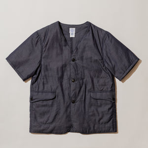 #1267B Royal Traveler Shirt-1/2 CJ1 / cotton jacquard with Thinsulate indigo