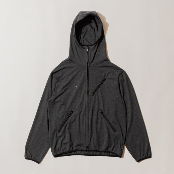 #3601 EZ HOODIE LJ1 / light weight poly jersey charcoal heather