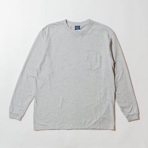 #3701 1102 Tee L/S 2 / 7 oz cotton jersey grey