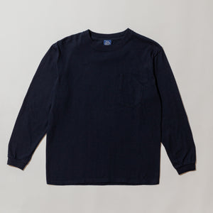 #3701 1102 Tee L/S 3 / 7 oz cotton jersey navy