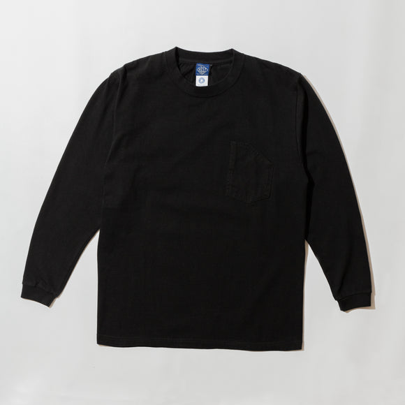 #3701 1102 Tee L/S 4 / 7 oz cotton jersey black