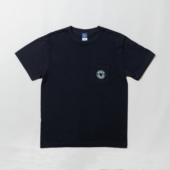 #3001 2D Outline ESS pocket Tee 3 / cotton jersey navy